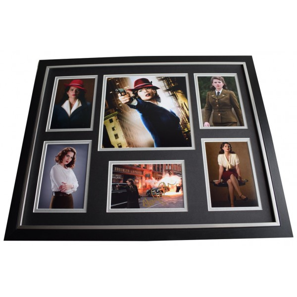 Hayley Atwell SIGNED Framed Photo Autograph Huge display Captain America AFTAL & COA Memorabilia   perfect gift