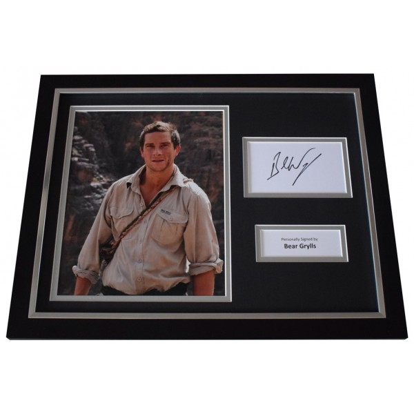 Bear Grylls Signed FRAMED Photo Autograph 16x12 display Man v Wild TV  AFTAL  COA Memorabilia PERFECT GIFT