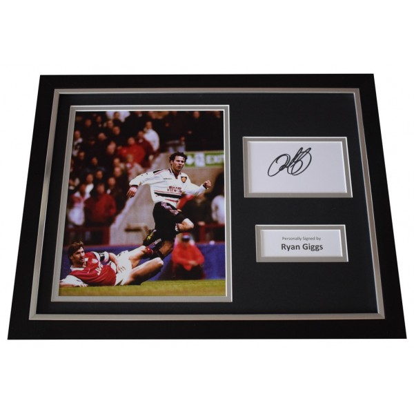 Ryan Giggs Signed FRAMED Photo Autograph 16x12 display Manchester United  AFTAL  COA Memorabilia PERFECT GIFT