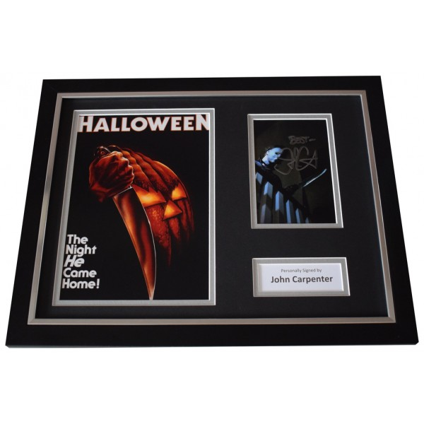 John Carpenter Signed FRAMED Photo Autograph 16x12 display Halloween Film AFTAL  COA Memorabilia PERFECT GIFT