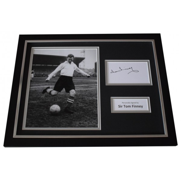 Tom Finney Signed FRAMED Photo Autograph 16x12 display Preston North End  AFTAL  COA Memorabilia PERFECT GIFT