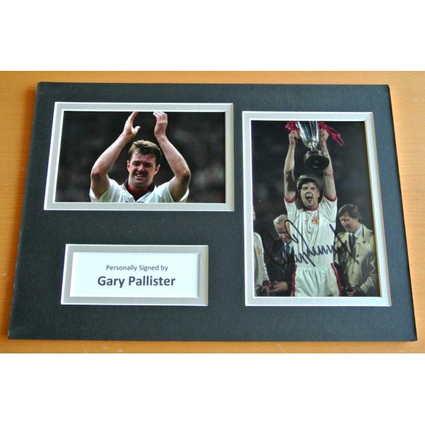 Gary Pallister SIGNED A4 Photo Mount Autograph Display Man Utd Football & COA AFTAL SPORT Memorabilia PERFECT GIFT