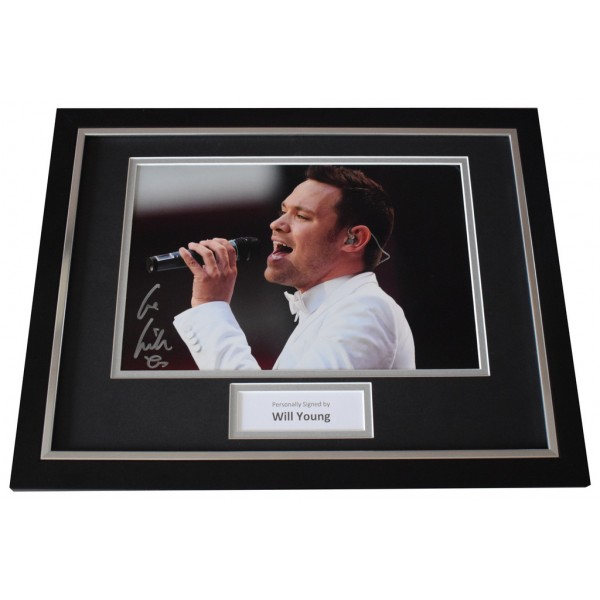 Will Young Signed FRAMED Photo Autograph 16x12 display Music  AFTAL  COA Memorabilia PERFECT GIFT