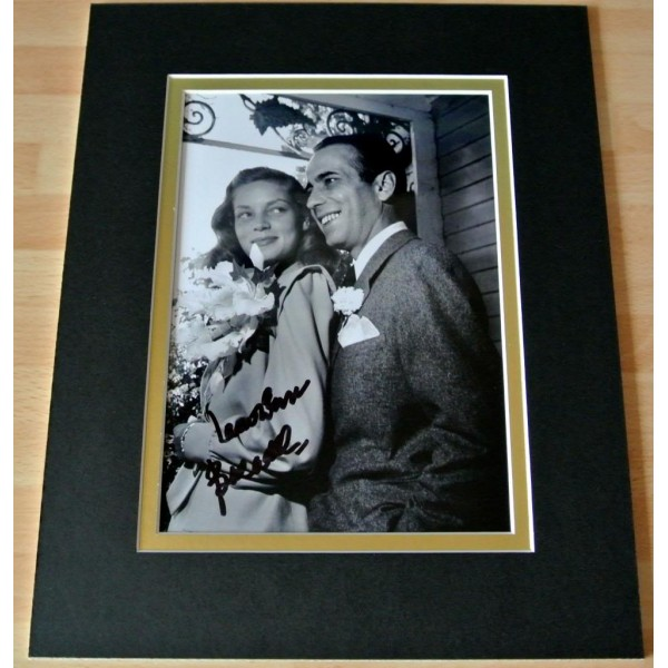 LAUREN BACALL HAND SIGNED AUTOGRAPH 10X8 PHOTO MOUNT HOLLYWOOD FILM & COA AFTAL  Memorabilia CLEARANCE SALE