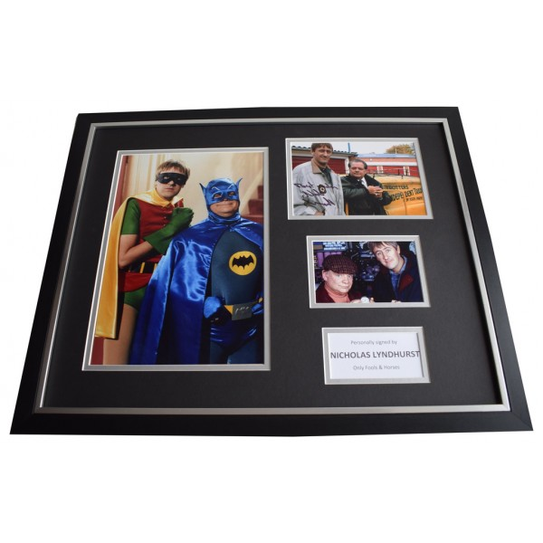 Nicholas Lyndhurst SIGNED Framed Photo Autograph Huge display Only Fools TV AFTAL & COA Memorabilia   perfect gift