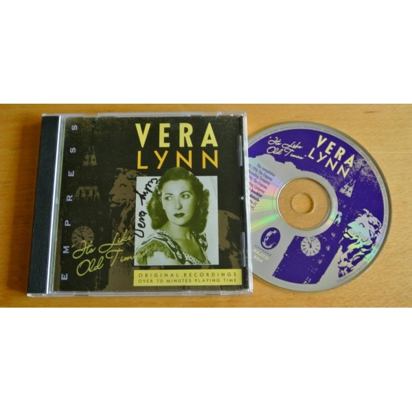 VERA LYNN HAND SIGNED AUTOGRAPH ITS LIKE OLD TIMES CD WW2 FORCES & COA   PERFECT GIFT