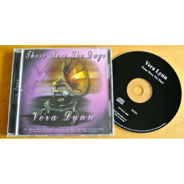 VERA LYNN HAND SIGNED AUTOGRAPH THOSE WERE THE DAYS CD WW2 FORCES & COA   PERFECT GIFT