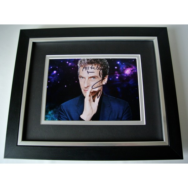 Peter Capaldi SIGNED 10X8 FRAMED Photo Autograph Display TV Doctor Dr Who & COA Perfect Gift