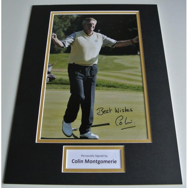 Colin Montgomerie SIGNED autograph 16x12 photo display Golf Sport  COA AFTAL Memorabilia PERFECT GIFT