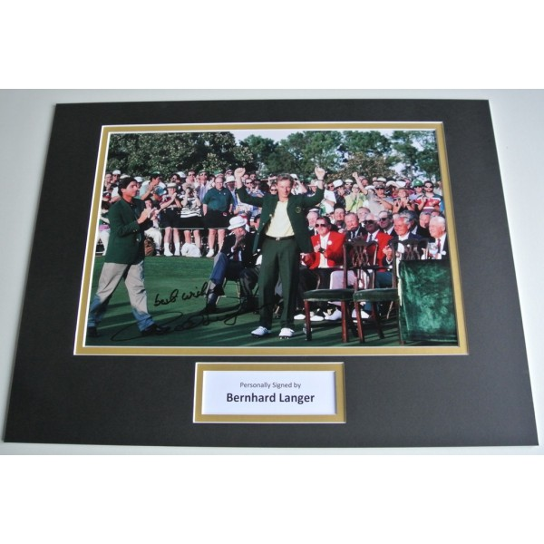 Bernhard Langer SIGNED autograph 16x12 photo display Golf Sport  COA AFTAL Memorabilia PERFECT GIFT