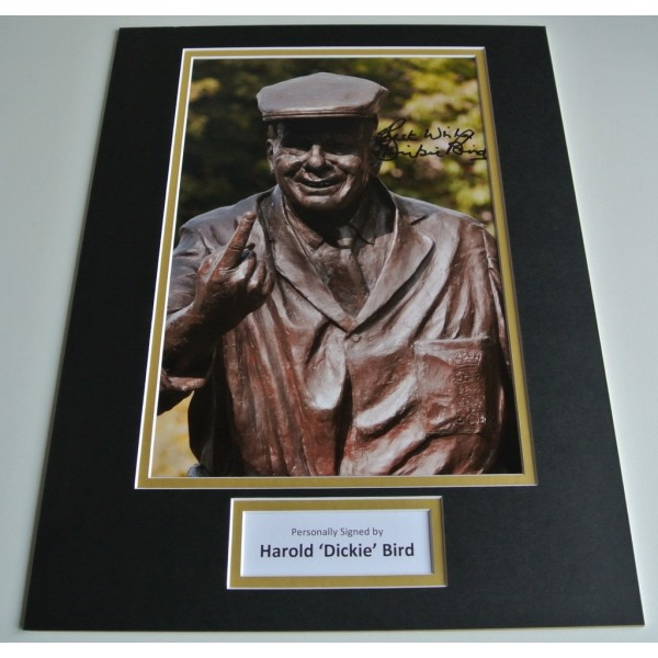 Harold Dickie Bird SIGNED autograph 16x12 photo mount display Cricket  COA AFTAL Memorabilia PERFECT GIFT
