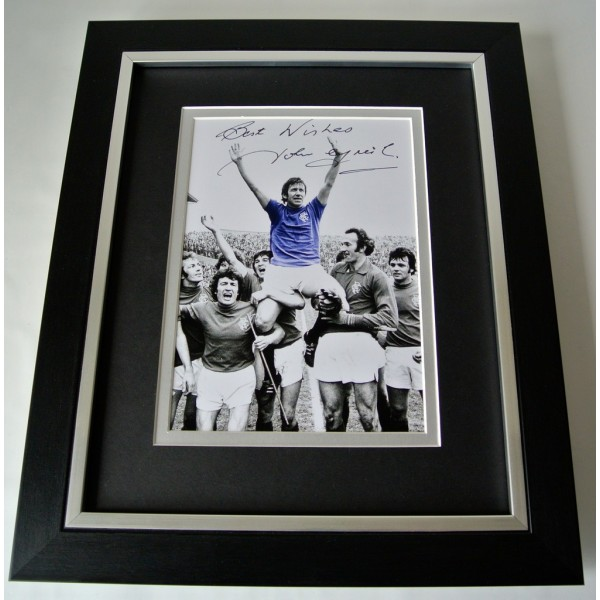 John Greig SIGNED 10X8 FRAMED Photo Autograph Display Rangers PROOF  AFTAL & COA Memorabilia PERFECT GIFT