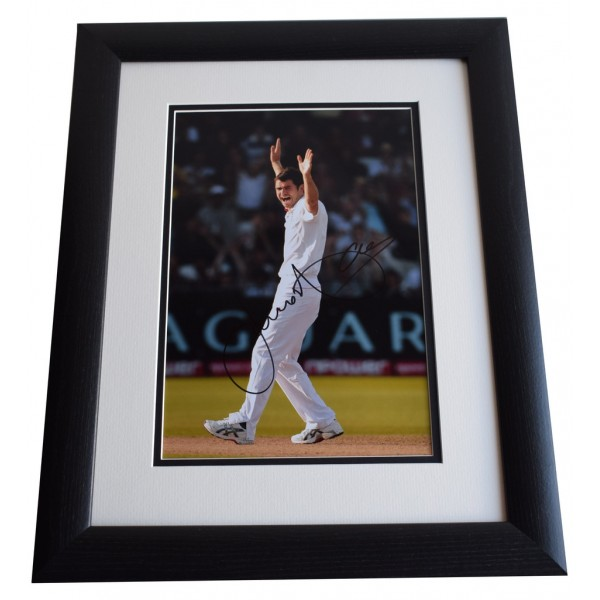 James Anderson SIGNED FRAMED Photo Autograph 16x12 LARGE display Cricket AFTAL & COA Memorabilia PERFECT GIFT