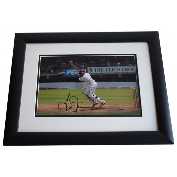 Brian Lara SIGNED FRAMED Photo Autograph 16x12 LARGE display Cricket AFTAL & COA Memorabilia PERFECT GIFT