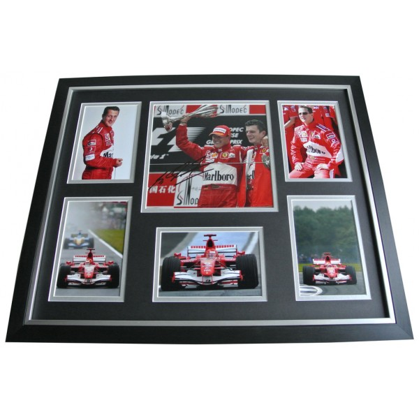 Michael Schumacher SIGNED FRAMED Photo Autograph Huge display Formula 1 AFTAL & COA Memorabilia PERFECT GIFT