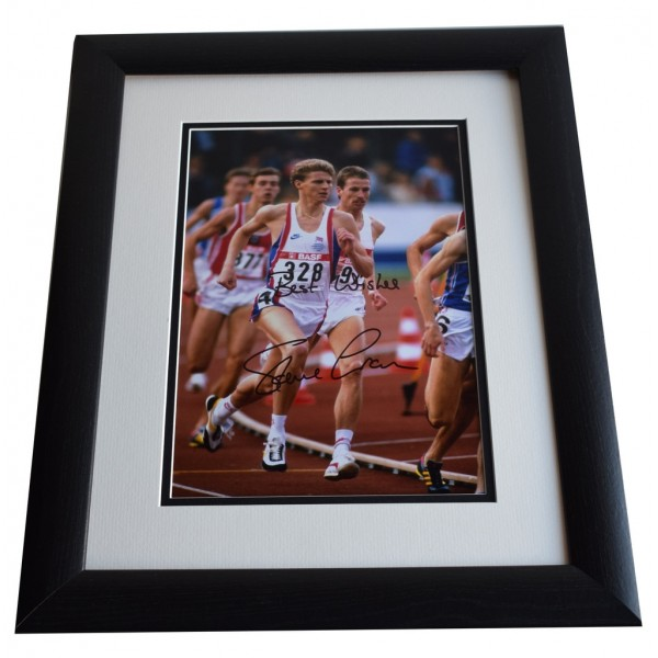 Steve Cram SIGNED FRAMED Photo Autograph 16x12 LARGE display Olympics AFTAL & COA Memorabilia PERFECT GIFT