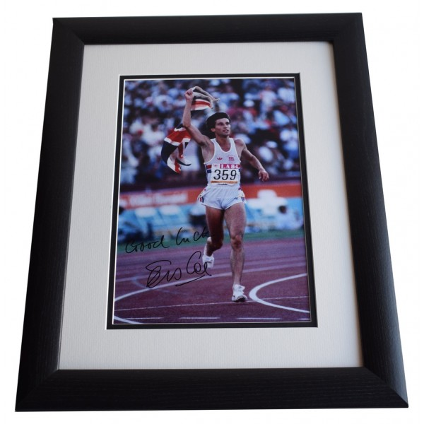 Sebastian Coe SIGNED FRAMED Photo Autograph 16x12 LARGE display Olympics AFTAL & COA Memorabilia PERFECT GIFT