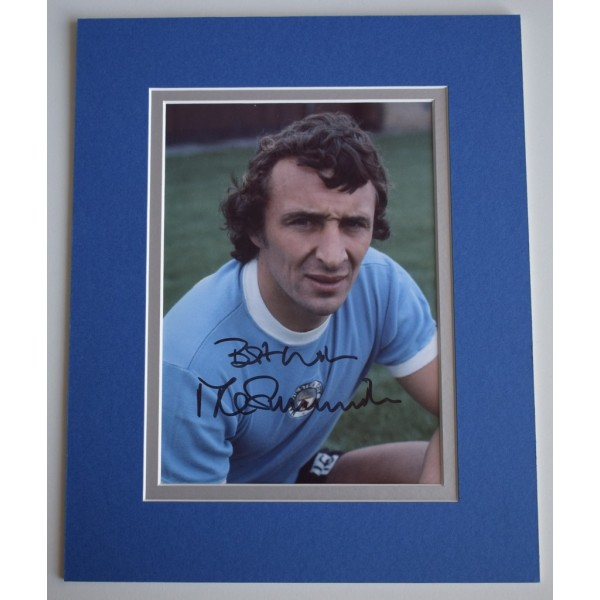 Mike Summerbee Signed Autograph 10x8 photo display Manchester City  AFTAL & COA Memorabilia   PERFECT GIFT