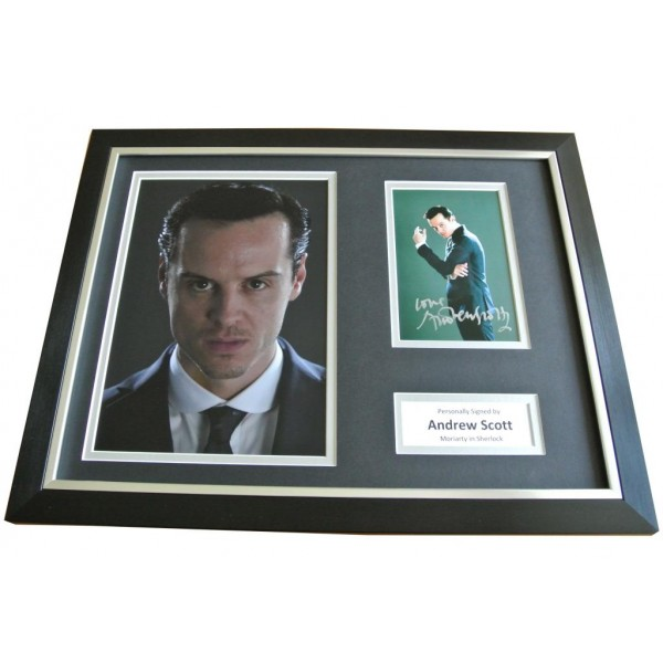 Andrew Scott Signed FRAMED Photo Autograph 16x12 Sherlock Moriarty TV & COA        PERFECT GIFT