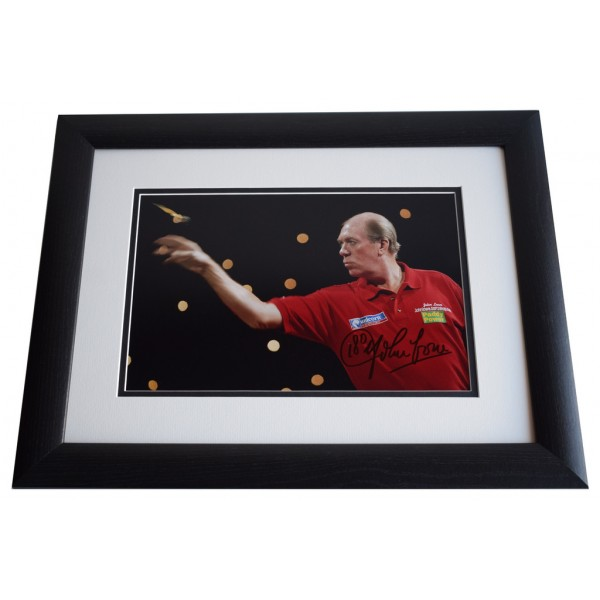 John Lowe SIGNED FRAMED Photo Autograph 16x12 LARGE display Darts AFTAL & COA Memorabilia PERFECT GIFT