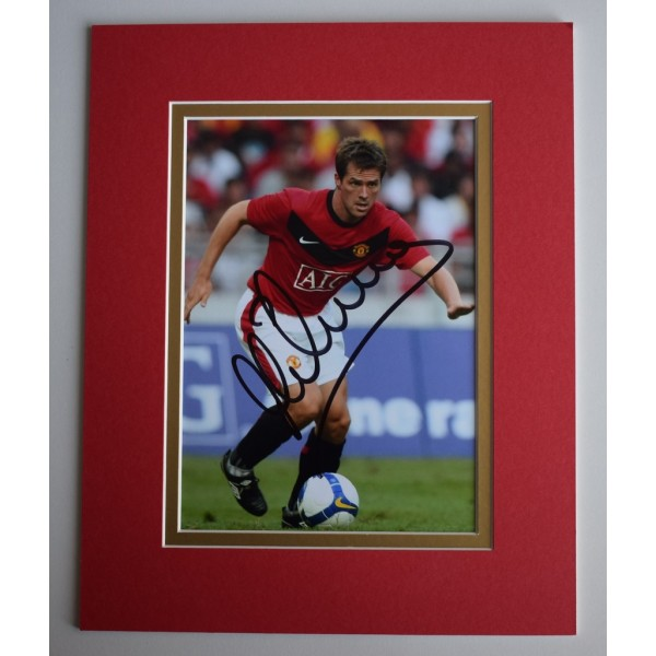 Michael Owen Signed Autograph 10x8 photo display Manchester United   AFTAL & COA Memorabilia   PERFECT GIFT