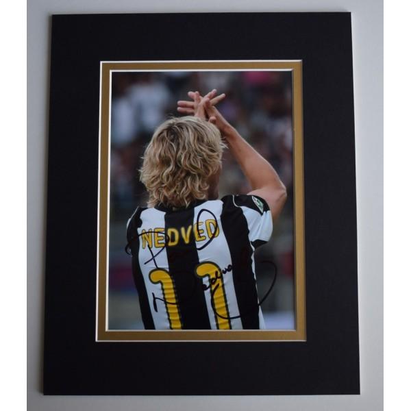 Pavel Nedved Signed Autograph 10x8 photo display Juventus Football  AFTAL  COA Memorabilia PERFECT GIFT