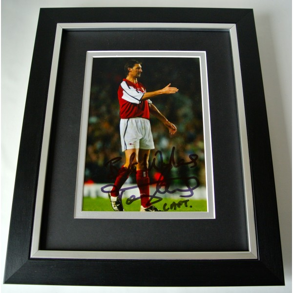 Tony Adams SIGNED 10X8 FRAMED Photo Autograph Display Arsenal Football & COA Perfect Gift