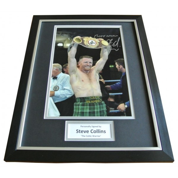 Steve Collins Signed FRAMED Photo Autograph 16x12 Display Boxing Champion & COA       PERFECT GIFT
