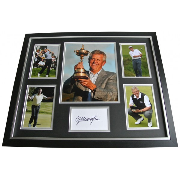 Colin Montgomerie SIGNED FRAMED Photo Autograph Huge display Golf AFTAL & COA Memorabilia PERFECT GIFT