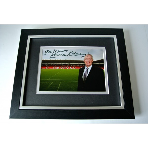 Lawrie McMenemy SIGNED 10X8 FRAMED Photo Autograph Display Southampton & COA Perfect Gift