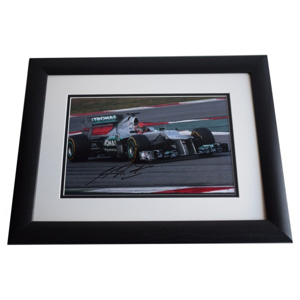 Michael Schumacher SIGNED FRAMED Photo Autograph 16x12 LARGE display Formula 1 AFTAL & COA Memorabilia PERFECT GIFT