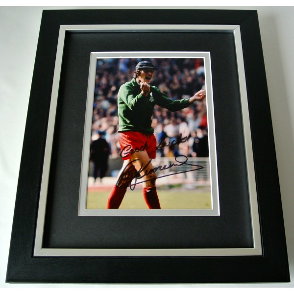 Ray Clemence SIGNED 10X8 FRAMED Photo Autograph Display Liverpool Football & COA Perfect Gift