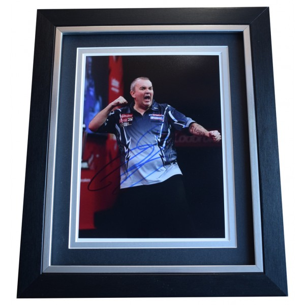 Phil Taylor SIGNED 10x8 FRAMED Photo Autograph Display Darts Sport AFTAL  COA Memorabilia PERFECT GIFT