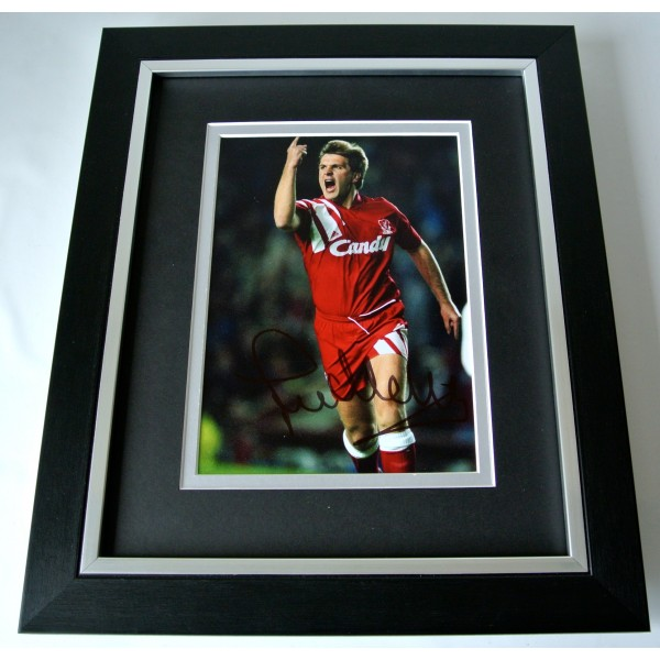 Jan Molby SIGNED 10X8 FRAMED Photo Autograph Display Liverpool Football & COA Perfect Gift