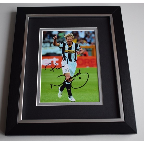 Pavel Nedved SIGNED 10X8 FRAMED Photo Autograph Display Juventus AFTAL &  COA Memorabilia   perfect gift