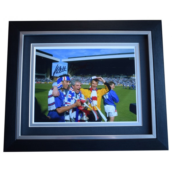 Walter Smith SIGNED 10x8 FRAMED Photo Autograph Display Rangers Football AFTAL  COA Memorabilia PERFECT GIFT