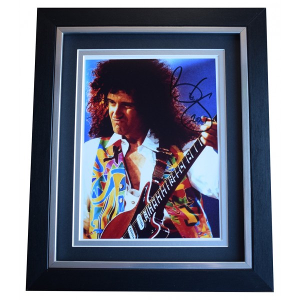 Brian May SIGNED 10x8 FRAMED Photo Autograph Display Queen Music AFTAL  COA Memorabilia PERFECT GIFT