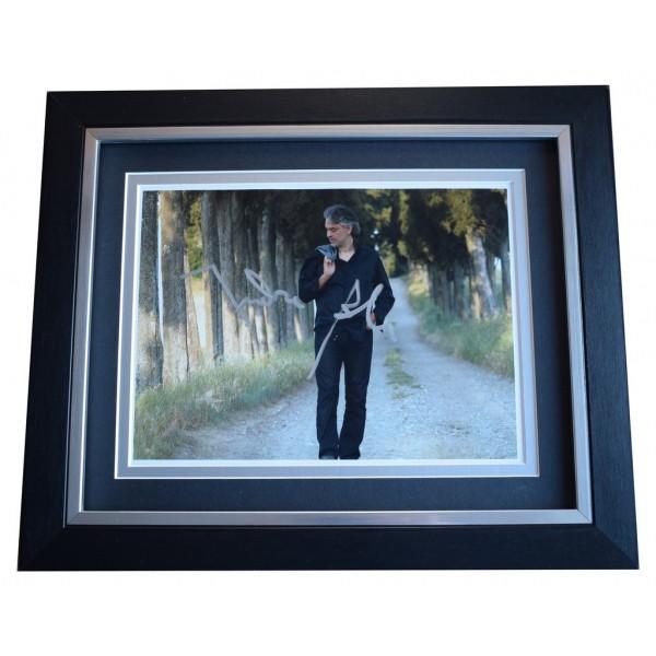 Andrea Bocelli SIGNED 10x8 FRAMED Photo Autograph Display Opera Music AFTAL  COA Memorabilia PERFECT GIFT