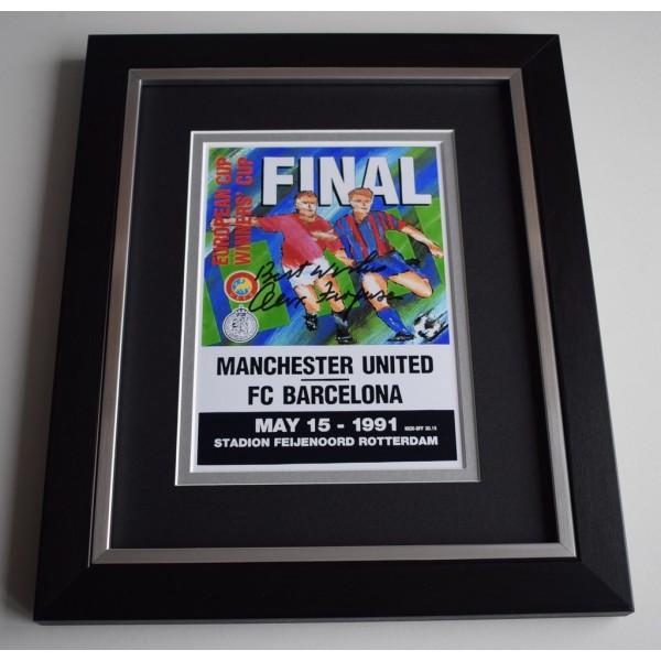 Alex Ferguson SIGNED 10X8 FRAMED Photo Display Manchester United ECWC 1991  AFTAL &  COA Memorabilia   perfect gift