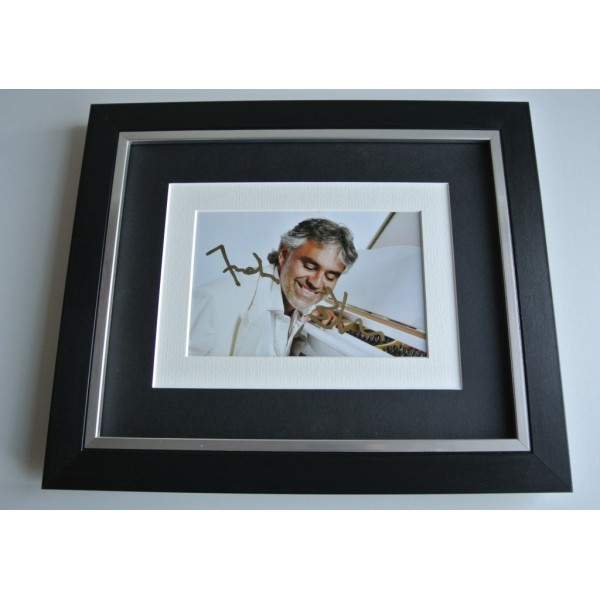 Andrea Bocelli SIGNED 10x8 FRAMED Photo Autograph Display Opera Music  AFTAL & COA Memorabilia PERFECT GIFT