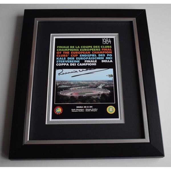 Ronnie Whelan SIGNED 10X8 FRAMED Photo Display Liverpool 1984 European Cup  AFTAL &  COA Memorabilia   perfect gift