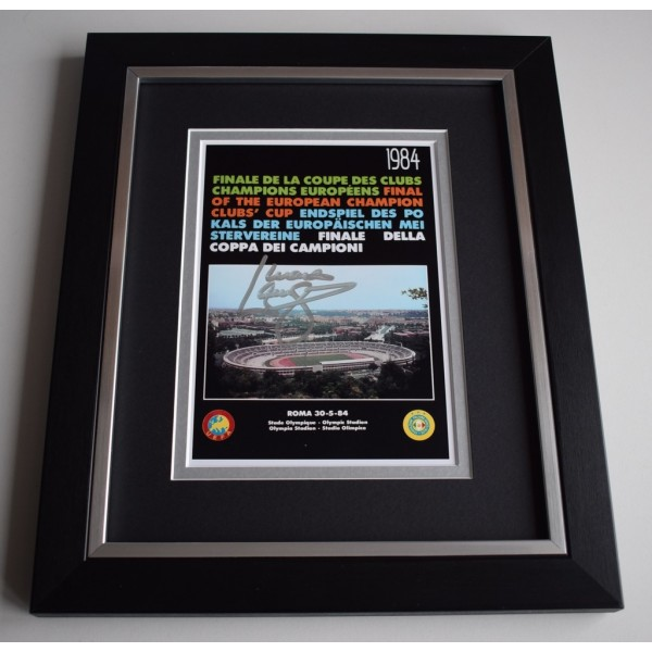 Mark Lawrenson SIGNED 10X8 FRAMED Photo Display Liverpool 1984 European Cup AFTAL &  COA Memorabilia   perfect gift