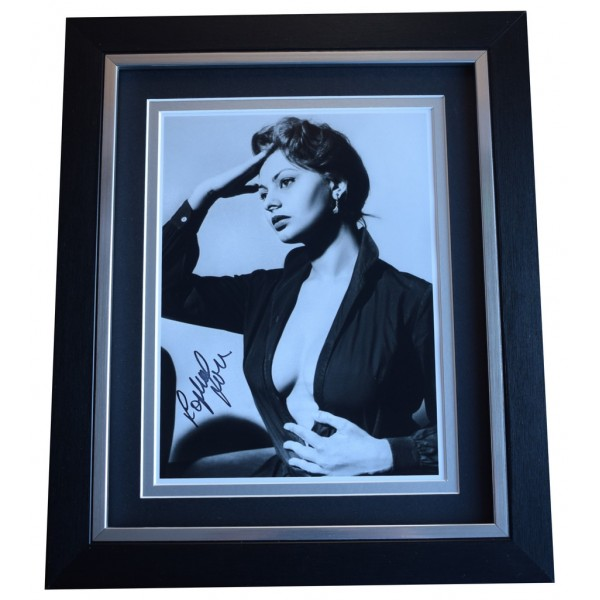 Sophia Loren SIGNED 10x8 FRAMED Photo Autograph Display Hollywood Films AFTAL  COA Memorabilia PERFECT GIFT