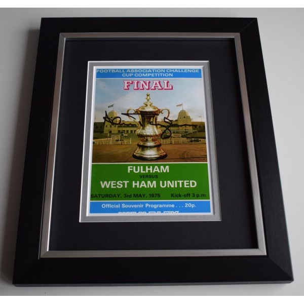 Alan Taylor SIGNED 10X8 FRAMED Photo Display West Ham United FA Cup 1975   AFTAL &  COA Memorabilia   perfect gift