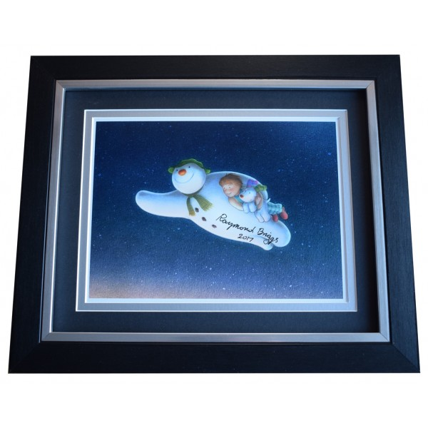 Raymond Briggs SIGNED 10x8 FRAMED Photo Autograph Display The Snowman AFTAL  COA Memorabilia PERFECT GIFT