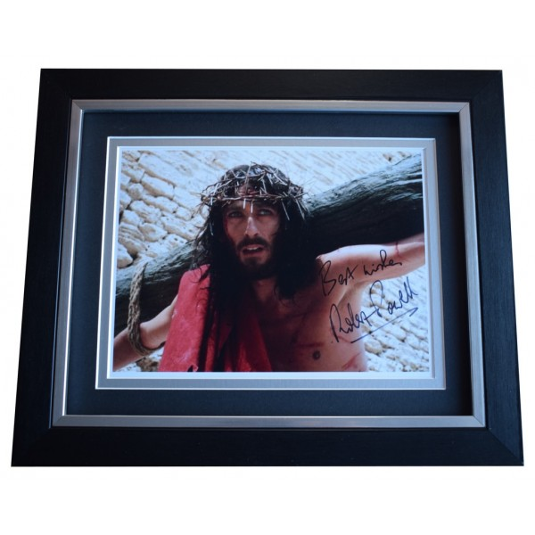 Robert Powell SIGNED 10x8 FRAMED Photo Autograph Display Jesus of Nazareth  AFTAL  COA Memorabilia PERFECT GIFT