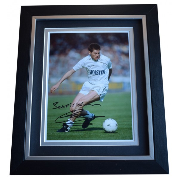 Chris Waddle SIGNED 10x8 FRAMED Photo Autograph Display Tottenham Hotspur AFTAL  COA Memorabilia PERFECT GIFT