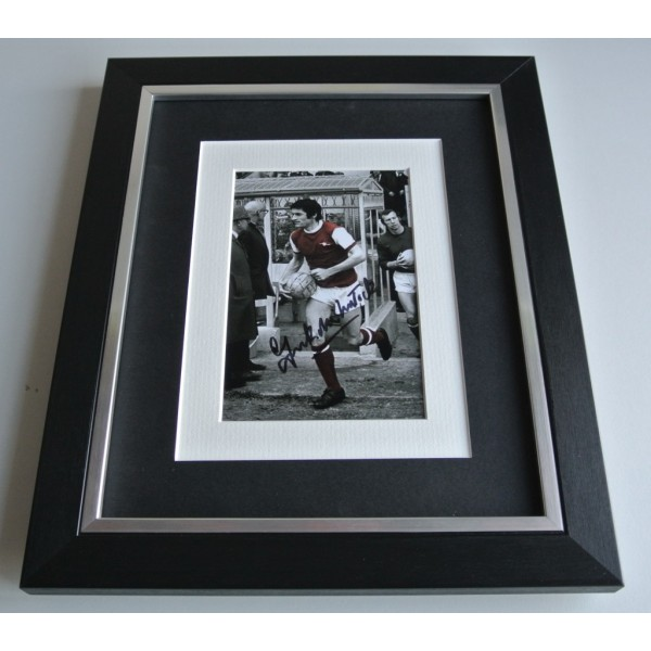 Frank McLintock SIGNED 10x8 FRAMED Photo Autograph Display Arsenal PROOF COA & AFTAL Memorabilia PERFECT GIFT