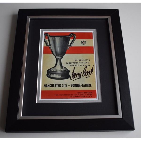 Tony Book SIGNED 10X8 FRAMED Photo Display Manchester City 1970 ECWC  AFTAL &  COA Memorabilia   perfect gift