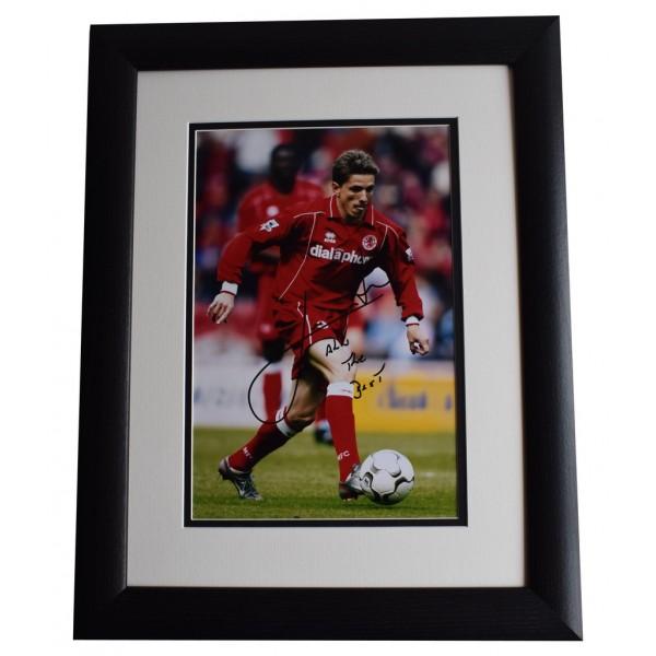 Juninho SIGNED FRAMED Photo Autograph 16x12 LARGE display Middlesbrough & COA AFTAL MEMORABILIA